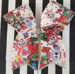 Forky christmas hair bow